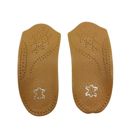 Star Flat Fleet Orthotic Foot Sole Leather Insoles