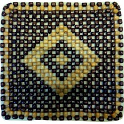 Star Square Mat Wooden